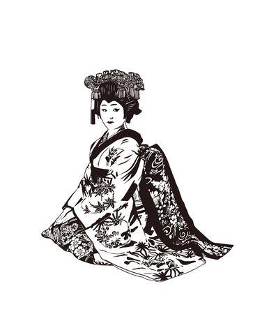 apprentice: Geisha Stock Photo