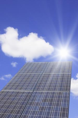 pleasent: Solar Panel Stock Photo