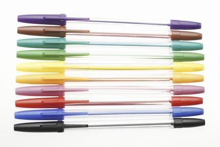 A colorful ball pen 版權商用圖片
