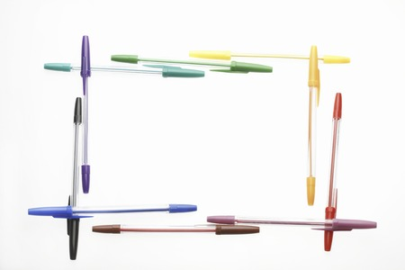 writing utensil: A colorful ball pen Stock Photo