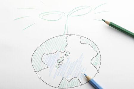 burgeoning: Handwriting of the earth and Futaba