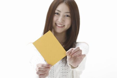 yellow card: A woman with a yellow card