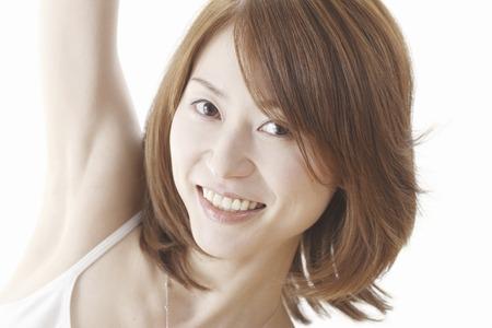 woman stretching: Woman stretching
