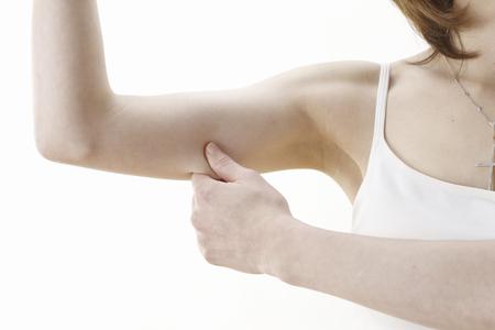 upper: Pinch the upper arm