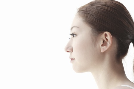 The profile of woman