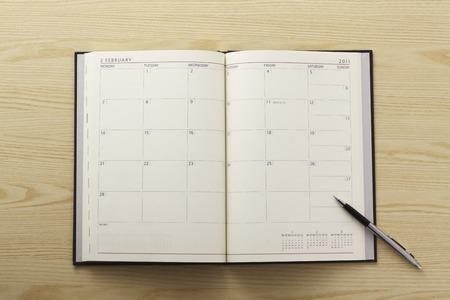 writing utensil: Schedule book