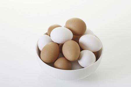 entered: Egg entered the instrument Stock Photo