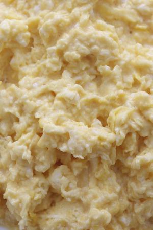 scrambled: Scrambled eggs Stock Photo