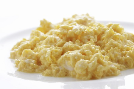 Scrambled eggs Stock Photo