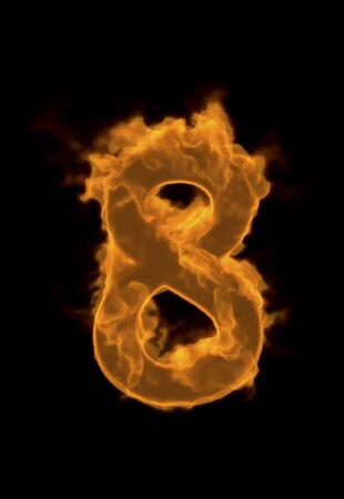 solid figure: Numero di fiamma 8 Archivio Fotografico