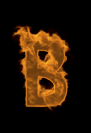 firepower: Alphabet B of flame Stock Photo