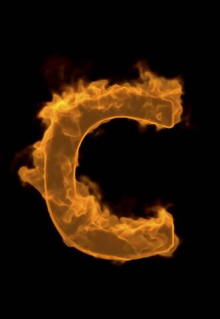 firepower: Alphabet of flame C Stock Photo