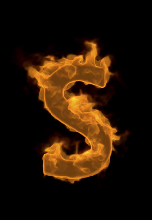 flame: Alphabet S of flame