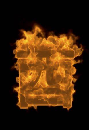 hot chick: Zodiac fire Stock Photo