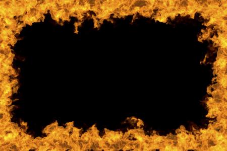 炎のフレーム 写真素材