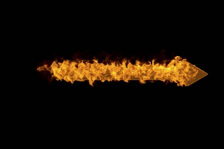 firepower: Arrow of flame Stock Photo