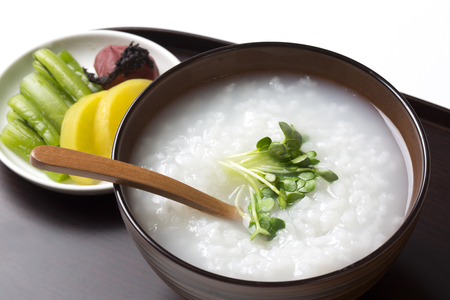 Rice porridge Stock Photo