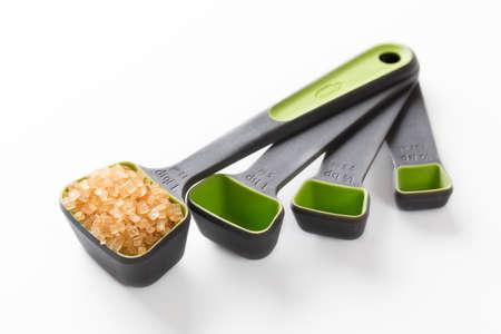 measuring spoon: Zara sugar in a measuring spoon Stock Photo