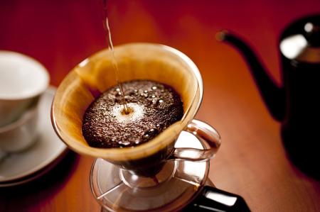 コーヒーのフリップ 写真素材