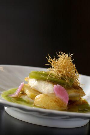 白い魚のフランス語 写真素材