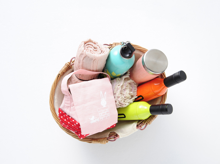 compartment: Compartment of a variety of basket Stock Photo