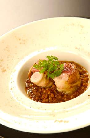 iberian: Iberian pig French cuisine Archivio Fotografico
