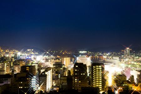 nagasaki: Nagasaki city night view Stock Photo