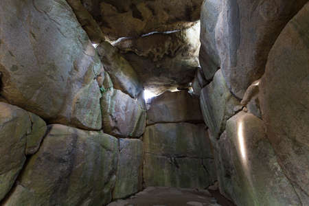 tumulus: The inside of the stone stage tumulus