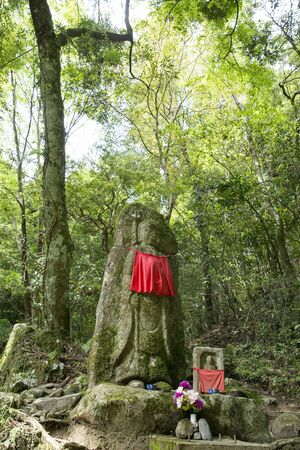 beheading: Beheading of Yagyu Road Jizo Stock Photo