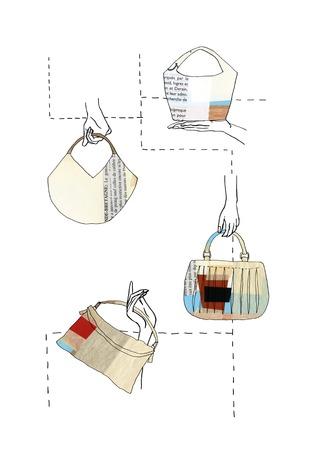コラージュ バッグのパターン