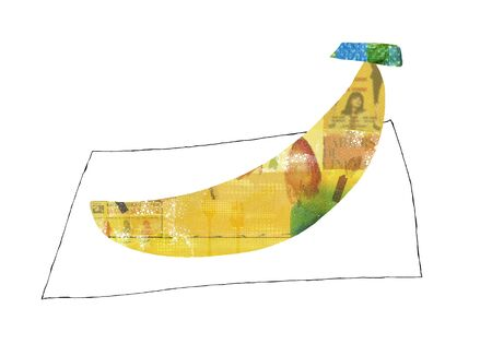 provisions: Of yellow collage banana