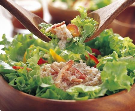 カニのサラダ 写真素材