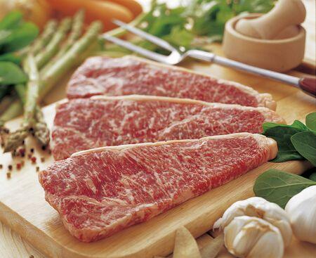 米沢牛サーロイン ステーキ 写真素材