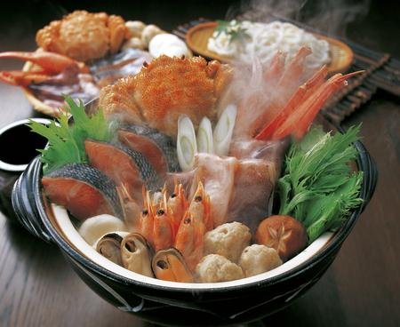 髪に海鮮鍋