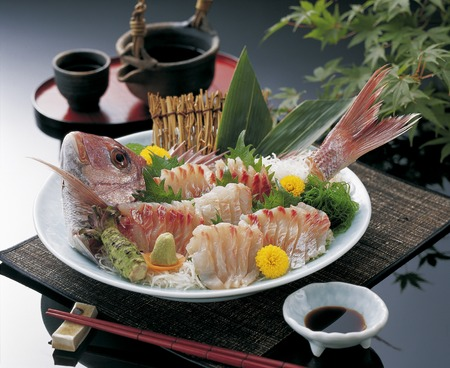 鯛の刺身 写真素材