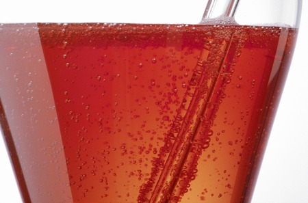 sizzle: Sizzle up of Campari soda Stock Photo