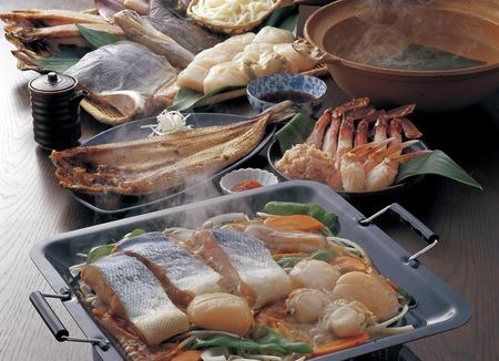 promptly: Hokkaido sea seafood local cuisine Stock Photo