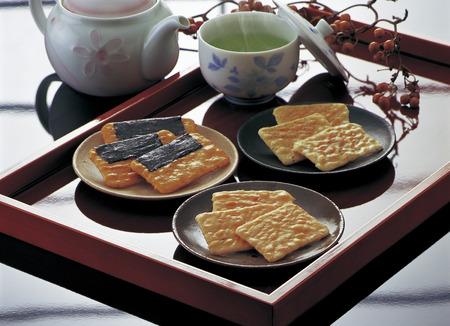 dry provisions: Rice cracker