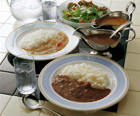 beef curry: Beef curry and pork curry
