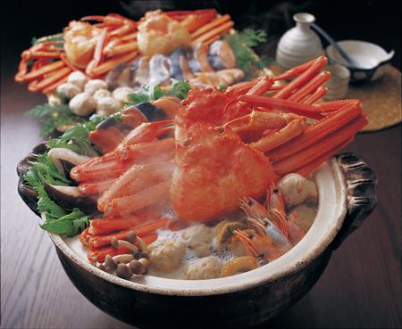crab pot: Red snow crab seafood pot Stock Photo