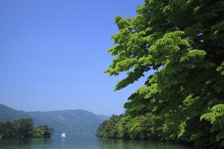 pleasure ship: Lake towada and cruise ships