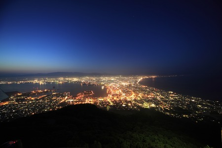 city center: The view from Mt. Hakodate