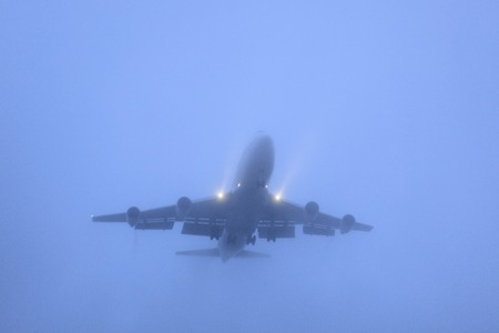 Airliner to land in the fog