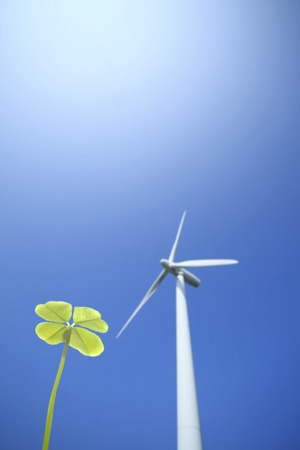 windpower: Four Leaf Clover and windmill