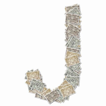 money bills: 10000 Yen bills and 100 dollars in bills of the alphabet uppercase