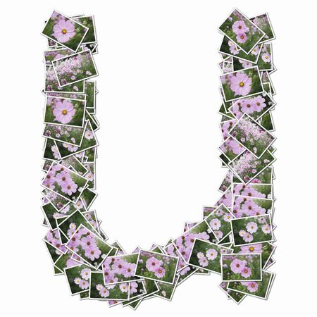 Lowercase alphabet with pictures of flowers