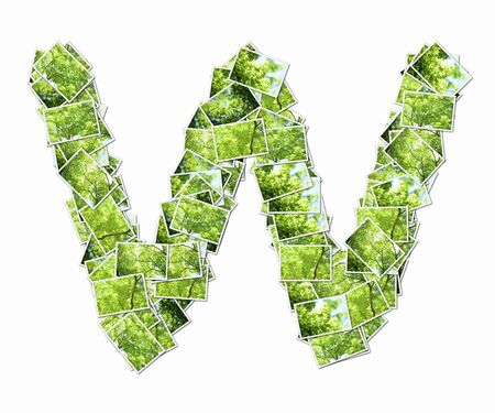 Lowercase alphabet with pictures of fresh green