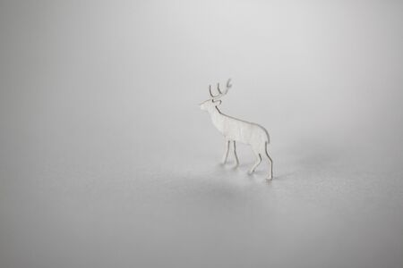 鹿クラフト 写真素材