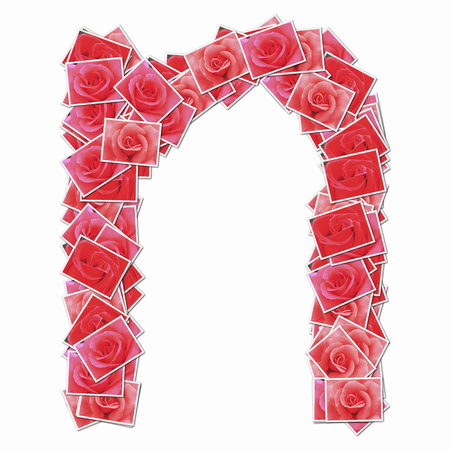 lowercase: Rose flowers with lowercase