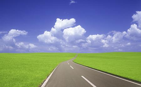 grasslands: Grasslands road and clouds